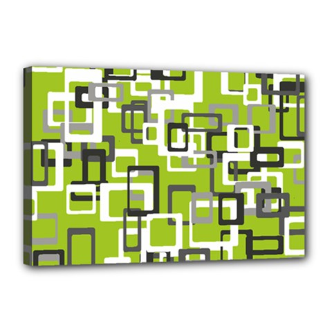 Pattern Abstract Form Four Corner Canvas 18  X 12  by Nexatart