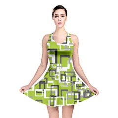 Pattern Abstract Form Four Corner Reversible Skater Dress