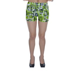 Pattern Abstract Form Four Corner Skinny Shorts