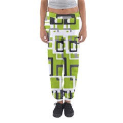 Pattern Abstract Form Four Corner Women s Jogger Sweatpants