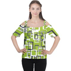 Pattern Abstract Form Four Corner Women s Cutout Shoulder Tee