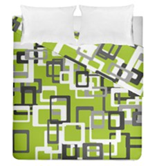 Pattern Abstract Form Four Corner Duvet Cover Double Side (queen Size)
