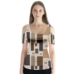 Pattern Wallpaper Patterns Abstract Butterfly Sleeve Cutout Tee