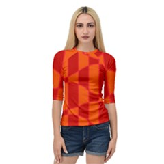 Background Texture Pattern Colorful Quarter Sleeve Tee