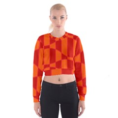 Background Texture Pattern Colorful Cropped Sweatshirt