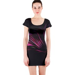 Pattern Design Abstract Background Short Sleeve Bodycon Dress