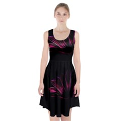 Pattern Design Abstract Background Racerback Midi Dress