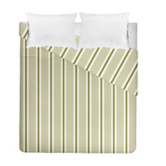Pattern Background Green Lines Duvet Cover Double Side (full/ Double Size)
