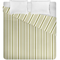 Pattern Background Green Lines Duvet Cover Double Side (king Size)