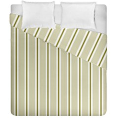 Pattern Background Green Lines Duvet Cover Double Side (california King Size) by Nexatart