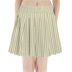 Pattern Background Green Lines Pleated Mini Skirt