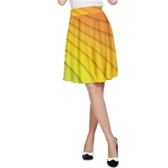 Abstract Pattern Lines Wave A Line Skirt