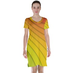 Abstract Pattern Lines Wave Short Sleeve Nightdress
