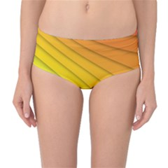 Abstract Pattern Lines Wave Mid Waist Bikini Bottoms