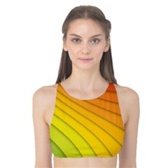 Abstract Pattern Lines Wave Tank Bikini Top