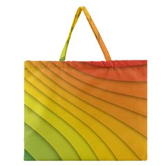 Abstract Pattern Lines Wave Zipper Large Tote Bag by Nexatart