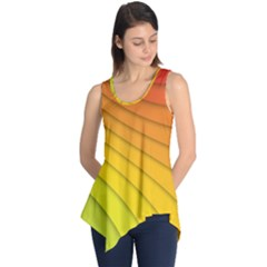 Abstract Pattern Lines Wave Sleeveless Tunic
