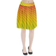 Abstract Pattern Lines Wave Pleated Skirt