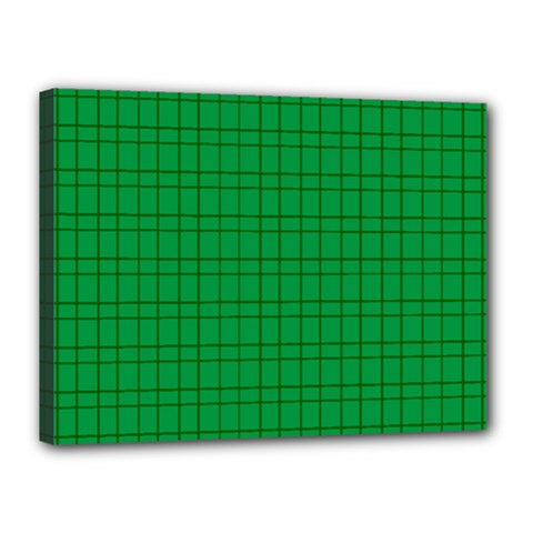 Pattern Green Background Lines Canvas 16  x 12