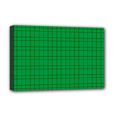 Pattern Green Background Lines Deluxe Canvas 18  X 12