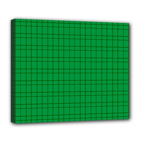 Pattern Green Background Lines Deluxe Canvas 24  X 20   by Nexatart