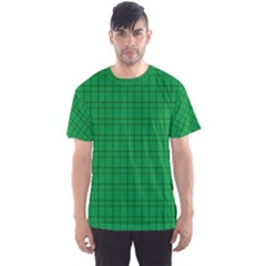 Pattern Green Background Lines Men s Sport Mesh Tee