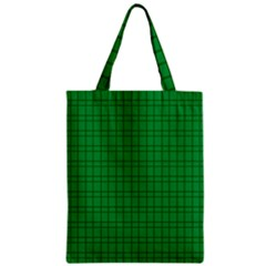Pattern Green Background Lines Zipper Classic Tote Bag by Nexatart