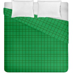Pattern Green Background Lines Duvet Cover Double Side (king Size) by Nexatart