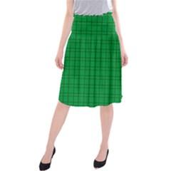 Pattern Green Background Lines Midi Beach Skirt