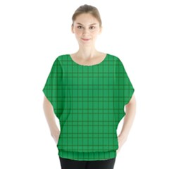 Pattern Green Background Lines Blouse