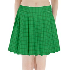 Pattern Green Background Lines Pleated Mini Skirt by Nexatart