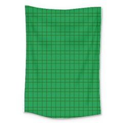 Pattern Green Background Lines Large Tapestry