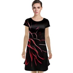 Pattern Design Abstract Background Cap Sleeve Nightdress