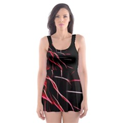 Pattern Design Abstract Background Skater Dress Swimsuit