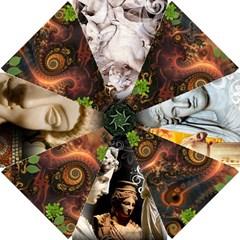goddess Fractal Dance    Golf Umbrella by livingbrushlifestyle