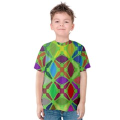 Abstract Pattern Background Design Kids  Cotton Tee