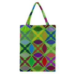 Abstract Pattern Background Design Classic Tote Bag