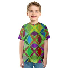 Abstract Pattern Background Design Kids  Sport Mesh Tee