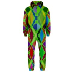 Abstract Pattern Background Design Hooded Jumpsuit (men)