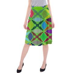 Abstract Pattern Background Design Midi Beach Skirt
