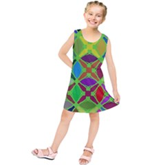Abstract Pattern Background Design Kids  Tunic Dress