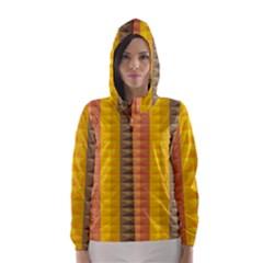 Abstract Pattern Background Hooded Wind Breaker (women)