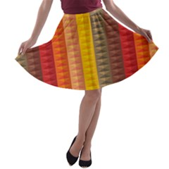 Abstract Pattern Background A Line Skater Skirt