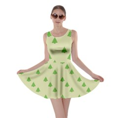 Christmas Wrapping Paper Pattern Skater Dress