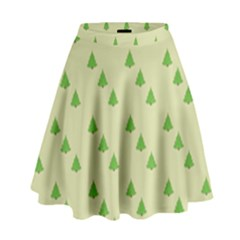 Christmas Wrapping Paper Pattern High Waist Skirt