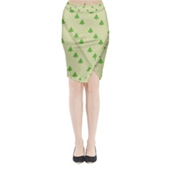 Christmas Wrapping Paper Pattern Midi Wrap Pencil Skirt