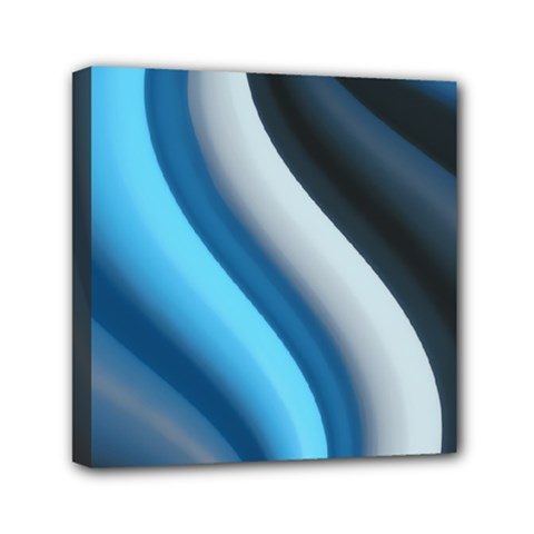Abstract Pattern Lines Wave Mini Canvas 6  X 6  by Nexatart