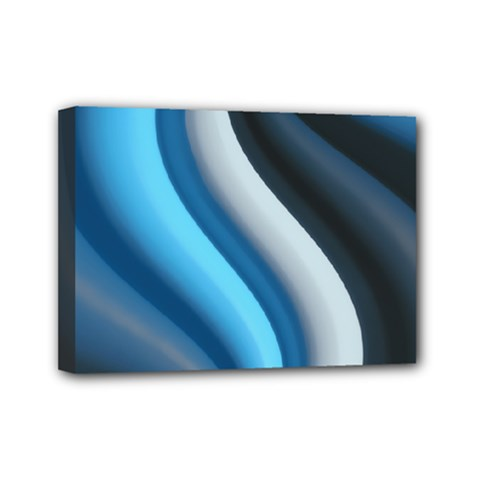 Abstract Pattern Lines Wave Mini Canvas 7  X 5