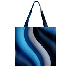 Abstract Pattern Lines Wave Zipper Grocery Tote Bag by Nexatart