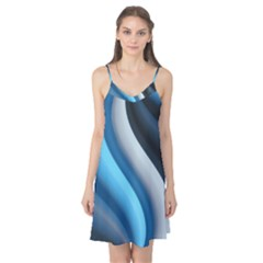 Abstract Pattern Lines Wave Camis Nightgown